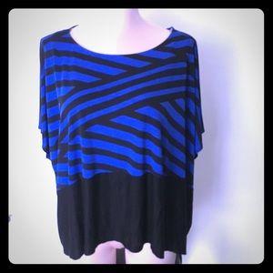NWT Black and blue flowy top